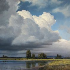 "Renato Muccillo ""Approaching Storm"" - study (Oil on Canvas)"