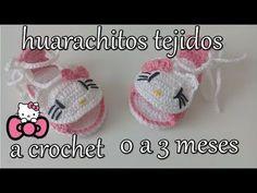 huarachitos de hello kitty a crochet - YouTube