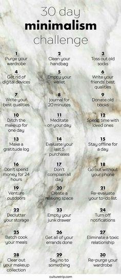 I absolutely love this idea! Minimalist challenge! | How to get excess out of your life