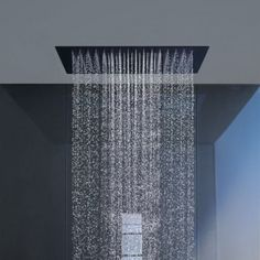 Modern rain shower heads are a must have in new bath construction Modern Contemporary Bathrooms, Modern Bathroom Design, Bathroom Interior Design, Bath Design, Bathroom Designs, Interior Ideas, Modern Interior, Ceiling Shower Head, Bathroom Shower Heads
