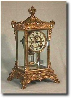 "Ansonia ""Elysian"" Crystal Regulator Clock, Circa 1920."