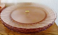 NEW 16 Piece Arcoroc France Pink Roseline Swirl Dinnerware Set -  service for 4
