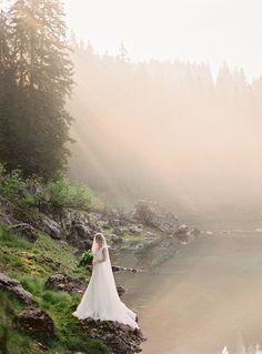 Stunning Bridal Shoot In The Italian Dolomites via Magnolia Rouge