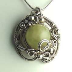 Green Aquamarine  Sterling Silver Sculpted by SamBraundJewellery, £120.00