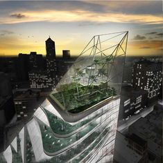 highway detroit' a new landmark by rossetti + metrogramma wins third place in the redesigning detroit competition