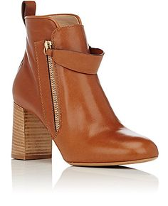 Chloé Leather Double-Zip Boots - Ankle Boots - Barneys.com