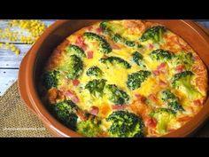 Pastel de Brócoli, con queso, pechuga de pavo y huevos al horno. Una receta fácil y sencilla que prepararás de momento, además de rica y saludable.