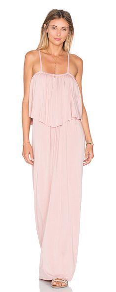 Matador maxi dress by Michael Lauren. 94% rayon 6% spandex. Dry clean recommended. Unlined. Adjustable shoulder straps. Elastic necklin...