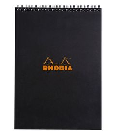 Rhodia Classic Notepads Top Wirebound 8 ¼ x 11 ¾ Graph Black 80 sheets