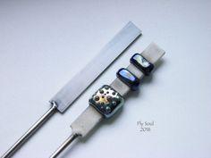 Plat mandrin pour Murano longueur 7cm (2mmx10mm et 2mmx5mm)