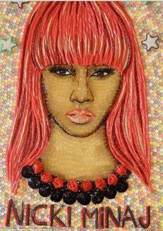 Niki Manaj portrait out of candy