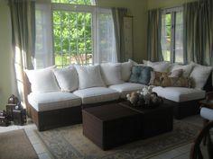 sunroom decorating ideas | ... Pictures of Your Sofa? - Home Decorating & Design Forum - GardenWeb