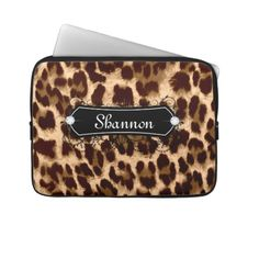 Leopard Laptop Case Custom Name Bling Laptop Computer Sleeves Laptop Computers, Laptop Case, Computer Sleeve, Custom Laptop, Laptop Sleeves, Sunglasses Case, Bling, Pretty, Cute