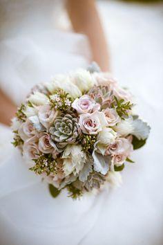 soft succulent bouquet