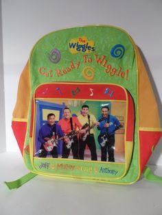 The Original Wiggles Children's Backpack! (2003) TV Show Kids ...