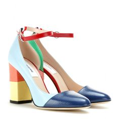 mytheresa.com - Leather pumps - High-heel - Pumps - Shoes - Thom Browne - Luxury Fashion for Women / Designer clothing, shoes, bags