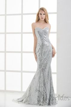 Trumpet/Mermaid Sweetheart Satin Sequin Prom Dress