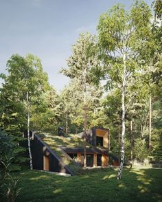 Underground_Housing - 2020-01-08T185430.653 Green Architecture, Sustainable Architecture, Architecture Design, Contemporary Architecture, Residential Architecture, House On A Hill, House Roof, Earth Sheltered Homes, Underground Homes
