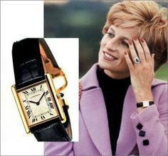princess diana Cartier Tank Watch   Does tank solo (small) look....