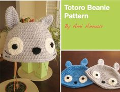 Totoro Beanie - I just might need to make this for myself.