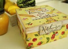 Wooden kitchen boxDecoupage box by SmitHouseManufacture on Etsy