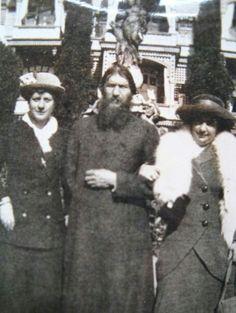 """Grigori Efimovich Rasputin and two ladies.   """"AL""""                                                                                                                                                                                 More"""