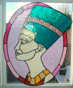 Nefertiti faux stained glass