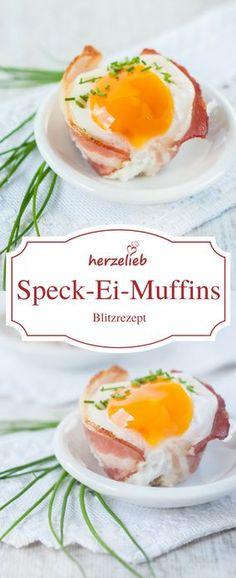 Food - Rezept: Leckere Speck-Ei-Muffins! Die schmecken nicht nur zu Ostern, sondern auch zu jedem anderen Frühstück oder Abendbrot. Schnell und einfach gemacht - ein echtes Blitzrezept! #deutsch #rezept #foodblog #frühstück