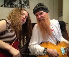 Tal Wilkenfeld (incredible aussie jazz bassist) with Billy Gibbons