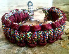 paracord survival bracelet- pretty