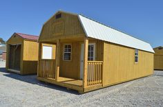 Lofted Barn Cabin Storage Building/Tiny House Many Sizes/Styles. Garages Sheds Small Log Cabin, Tiny Cabins, Tiny House Cabin, Tiny House Living, Building A Storage Shed, Barn Storage, Built In Storage, Building A House, Backyard Sheds