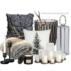 Decorate with candles by cherrysnoww on Polyvore featuring interior, interiors, interior design, home, home decor, interior decorating, John Lewis, Kartell, Mad et Len and iittala