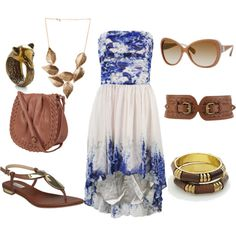Blue Belle- casual, summery look