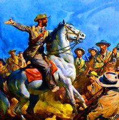 Boer commandos preparing for war at Spion Kop