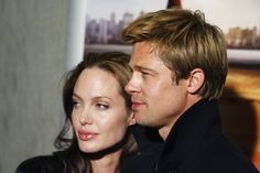 Actress Angelina Jolie, left, and actor Brad Pitt arrive at the premiere of 'God Grew Tired of Us' in West Hollywood, Calif. on Monday, Jan. 8, 2007.  (AP Photo/Matt Sayles) via @AOL_Lifestyle Read more: http://www.aol.com/article/entertainment/2016/09/26/jennifer-aniston-evil-eye-necklace-brangelina-divorce/21479570/?a_dgi=aolshare_pinterest#fullscreen