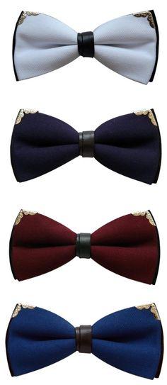 El diseño de estas #corbatas de #moño, son tan clásicas!! Encuéntralas aquí. Ideales para sorprender a tu novia.