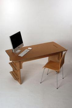 #cardboard desk
