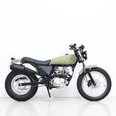 Beach Van Van in green olive #Beach #Motorcycles #kit #vanvan #suzuki #custom #bike #build #ride #suzukivanvan #BMCO #caferacer #scrambler #tracker #brat #green#tr7