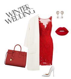 """valentine wedding"" by ausrine-paulikaite ❤ liked on Polyvore featuring ML Monique Lhuillier, MANGO, Yves Saint Laurent and Dolce&Gabbana"