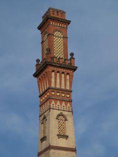Karlsruhe, Germany: Vierordtbad: tower (1871-1873, architect Josef Durm)