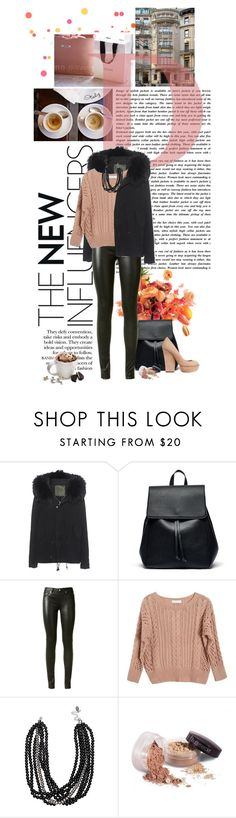 """Pink + Black"" by kyra-angel ❤ liked on Polyvore featuring Color Me, Mr & Mrs Italy, Sole Society, Tassimo, Yves Saint Laurent, Ryan Roche, Laura Mercier, Fall, Pink and Leather"