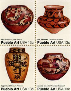 pueblo art stamp block by donovan beeson