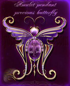 Amulet pendant precious butterfly 3 by Lyotta.deviantart.com on @DeviantArt