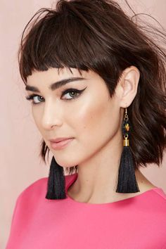 These black tassel earrings by Suzywan Deluxe are for those nights you want to make a serious statement.