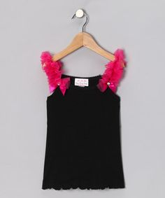 Take a look at this Black & Raspberry Ruffle Tank - Infant, Toddler & Girls by Oopsy Daisy Baby on #zulily today!