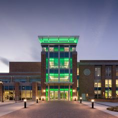 Colleges battle on the gridiron for recruits and resources, but the push continues off the football field, institution-wide. Refreshing a campus student cent. University Of North Texas, University Center, Banquet Seating, Area Of Expertise, Graduation Portraits, Innovation Centre, 2017 Design, Interior Design Magazine, Student Gifts