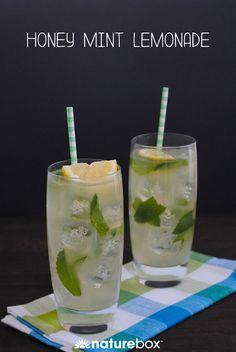Refreshing Drinks, Summer Drinks, Fun Drinks, Healthy Drinks, Beverages, Brunch Drinks, Honey Recipes, Tea Recipes, Mint Recipes