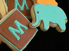 Bake at 350: Modern Monograms sugar cookie inspiration