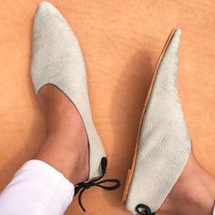 Asymmetrical Side Cut Women's Modern Gray Leather Pointy Toe Flats ~ 8 by RileeShoes on Etsy https://www.etsy.com/listing/539585371/asymmetrical-side-cut-womens-modern-gray