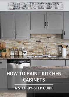 You don't always have to spend a fortune on improving your home, and just painting kitchen cabinets can be enough to give your home a fresh feel. And it's a cheaper alternative to a brand new kitchen!